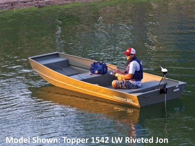 2015 TRACKER BOATS Topper 1036W Riveted Jon