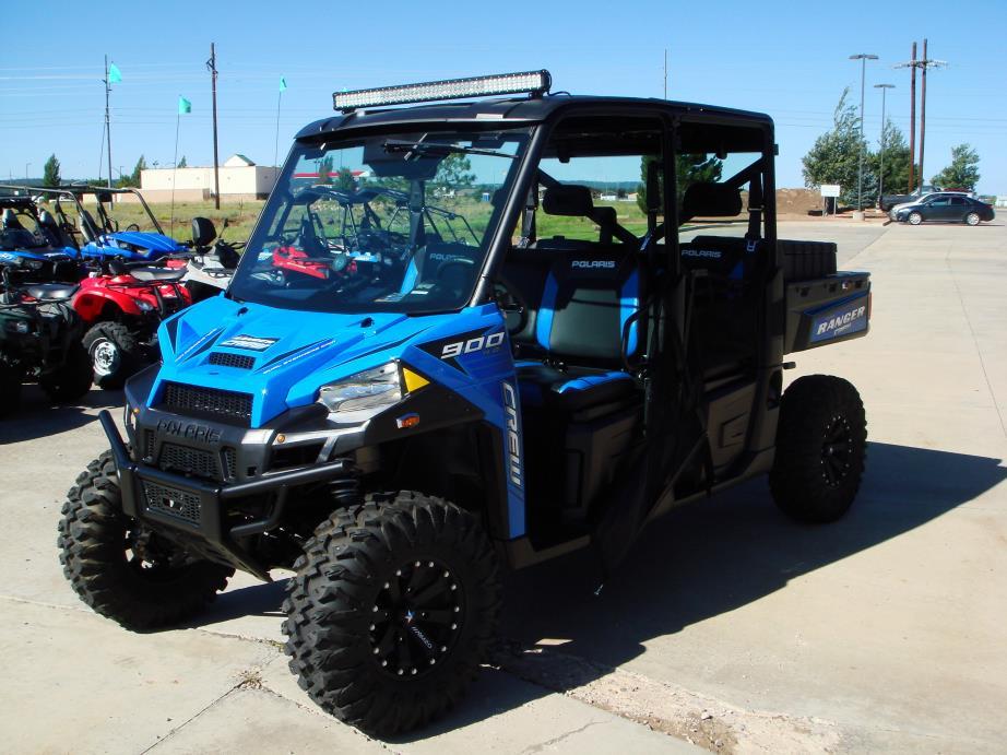 polaris ranger crew xp 900 6 eps velocity blue vehicles for sale. Black Bedroom Furniture Sets. Home Design Ideas