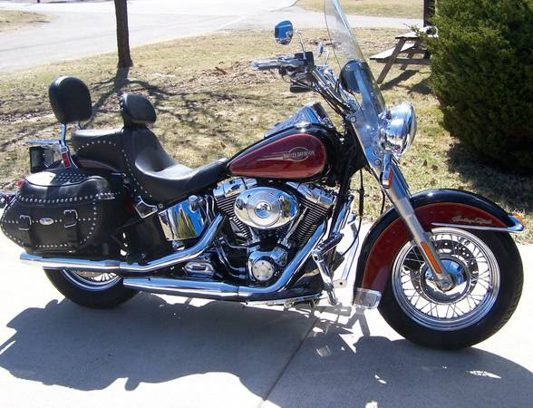 2005 harley ultra red motorcycles for sale