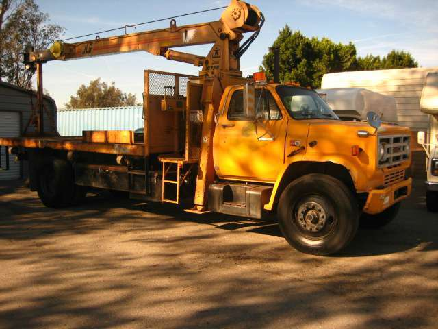 1990 Gmc 7000 Crane Truck