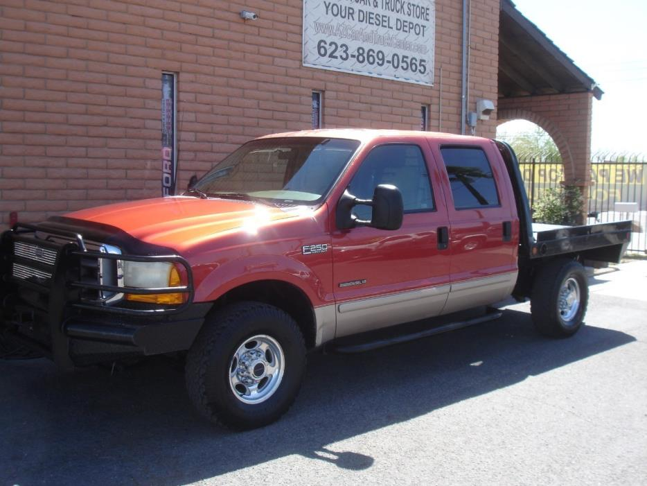 2001 Ford F250  Flatbed Truck