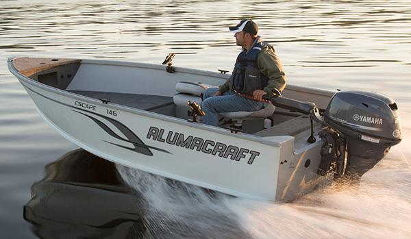 2015 Alumacraft Escape 145 Tiller
