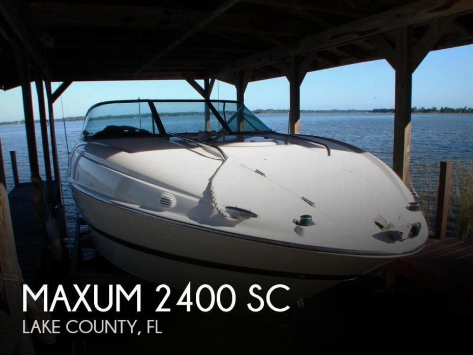 2004 Maxum 2400 SC