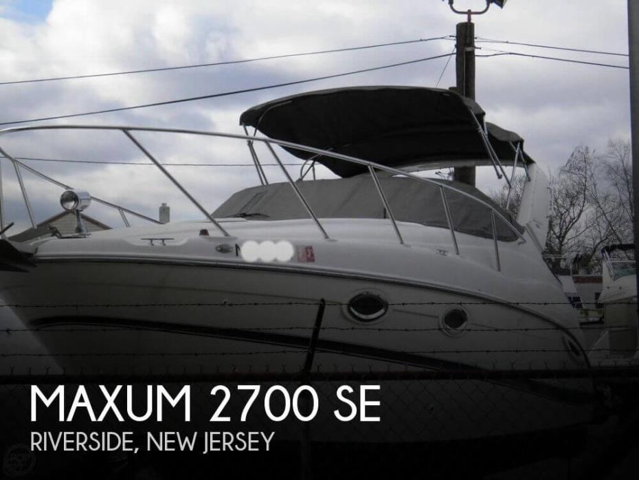2004 Maxum 2700 SE
