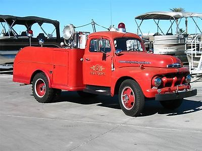 Ford : Other Pickups Fire Truck FULLY EQUIPPED 1951 Ford F-5 Fire Truck! Runs Beautifully! Ready to Roll!
