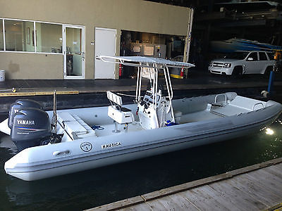 28' Nautica Catamaran Rib Ultimate Island Hopper Landing Craft LOW HOURS YAMAHA