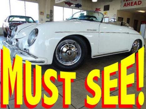 Porsche : 356 356 Replica 1956 porsche 356 speedster roadster replica 1600 cc many upgrades 2 tops 55 56 57