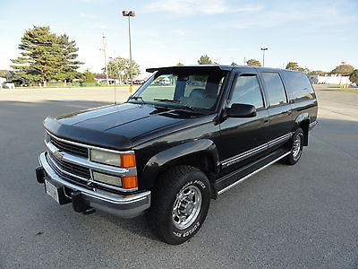 Chevrolet : Suburban K2500 1994 chevrolet k 2500 suburban silverado leather 6.5 l turbo diesel w upgrades