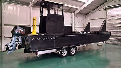 2014 25' Dura Poly Custom Built Work Boat Push Boat- 100% Maintenance Free