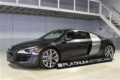 Audi : R8 V10 6 Speed Manual 2011 audi r 8 v 10 6 speed manual 32 k miles lava gray on red leather
