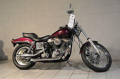 Harley-Davidson : Dyna harley-davidson old skool fxwg wide glide 1985 kickstart evolution fxdwg custom