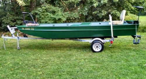 1999 POLAR KRAFT JON BOAT 16 FOOT DOUBLE WIDE.