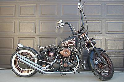 Harley-Davidson : Sportster Vintage 1975 Harley Sporster XLH 1000 Bobber Custom Award winner