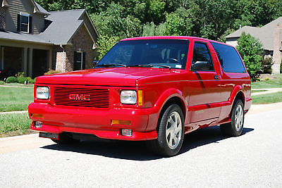 GMC : Typhoon Base Sport Utility 2-Door 1993 gmc typhoon immaculate 100 original 2 owner low mile rare red syclone