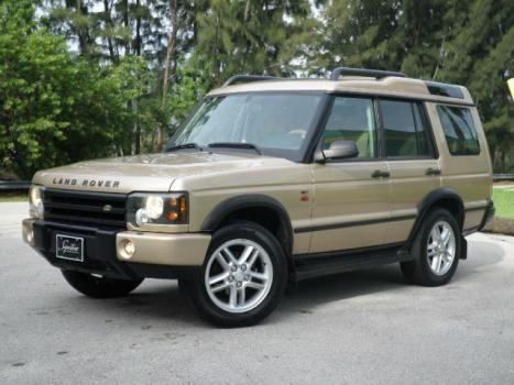 Land Rover : Discovery SE7 7 PASS. SE7 7 PASSENGER GOLD OVER TAN 4 X 4 DUAL SUNROOF CLEAN TITLE