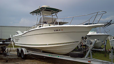 1998 Sport Craft 25 Foot Offshore Fishing Center Console Twin Engine