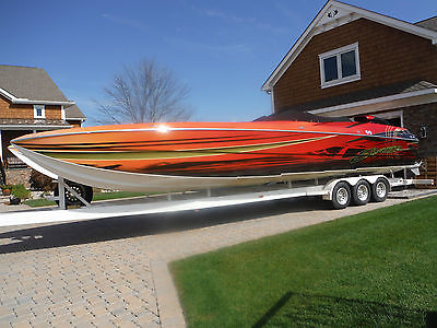 2001 36' Skater Catarmaran Power Boat COMPLETELY RENOVATED/FRESH REBUILT ENGINES