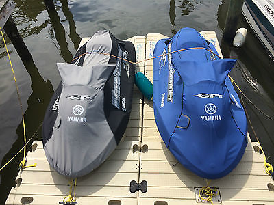 2 yamaha jetskis and trailer