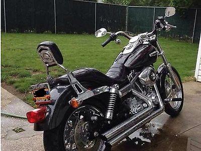 Harley-Davidson : Dyna HD SuperGlide Custom 08' with Sissy bar,backrest,Longshot pipes