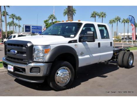 Ford : Other Pickups XL Chassis F550 2WD Crew Cab Commercial Work Truck Chassis 6.7 Powerstroke Diesel 60
