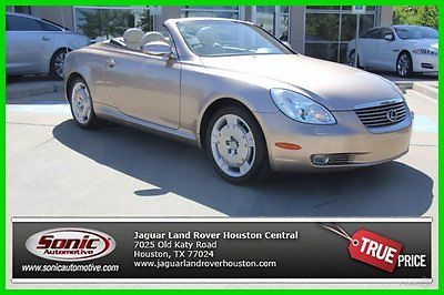 Lexus : SC Base Convertible 2-Door 2002 used 4.3 l v 8 32 v automatic rear wheel drive convertible premium