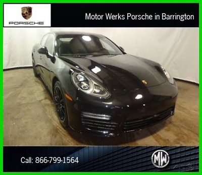 Porsche : Panamera Turbo Executive Basalt Black Burmester $189,755 MS 2014 turbo executive lane change departure sport exhaust chrono reverse camera