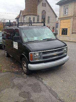 Chevrolet : Express 5 door black 5 door chevy work van, tool shelves, ladder racks, pa inspection