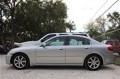 Infiniti : G35 Base Infiniti G35 Sedan sedan 4 dr Gasoline 3.5L V6 Cyl Brilliant Silver Metalli