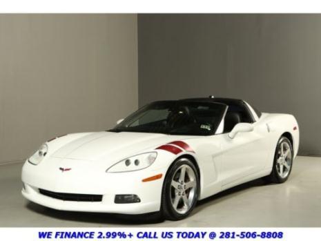 Chevrolet : Corvette TARGA TOP 2005 corvette targa top white on black hud leather auto bose xenons 19 alloys