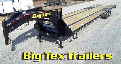 2015 Big Tex Trailers 22GN-20' + 5' Equipment Trailer MEGA Ramps