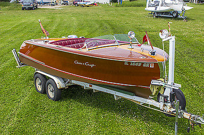 SHOW READY 1950 Chris-Craft Riviera Classic Wood Boat