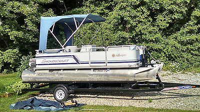 Pontoon Boat 18' w/40hp Johnson NEW Trailer