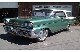 Mercury : Other 4 Door Hardtop Station Wagon 1958 mercury commuter 4 door hardtop station wagon 78 700 original miles