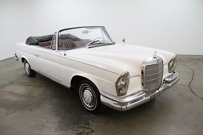 Mercedes-Benz : Other 220SE Cabriolet 1963 mercedes benz 220 se cabriolet white black canvas top manual weekend driver