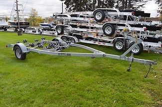 2003 5 STAR SINGLE AXLE ROLLER BOAT TRAILER, FITS 17-19FT BOAT, 32 ROLLERS