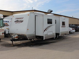 FOR SALE 2011 GULFSTREAM CONQUEST TRAVEL TRAILER WITH 2 SLIDEOUTS