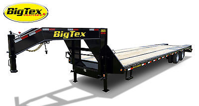 2015 Big Tex Trailers 22GN-35' + 5' Equipment Trailer Center Pop-up Tail