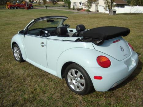 Volkswagen : Beetle-New 1.8L Turbo Convertible Leather Runs Great Beetle Convertible Salvage Rebuildable Repairable Damaged Project Wrecked Fixer