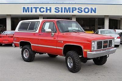 GMC : Jimmy JIMMY SIERRA CLASSIC 4x4  GREAT SUV  GREAT CARFAX 1988 gmc jimmy jimmy sierra classic 4 x 4 great suv great carfax