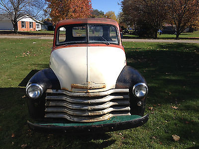 Chevrolet : Other Pickups 3100 1952 chevy pickup 3100 not gmc 47 55 rat rod truck 1 2 ton short bed