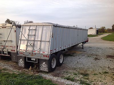 1991 merrit hopper bottom grain trailer