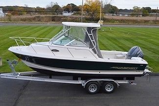 2005 AQUASPORT 215 EXPLORER WA FISHING BOAT, YAMAHA 200 4STROKE 163HRS, TRAILER