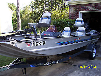 1991 SPECIAL EDITION Aluminum BASS TRACKER TX PRO-17 60HP JOHNSON MOTOR 2 GRAPHS