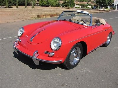 Porsche : 356 356B 1960 porsche 196 356 b 1600 roadster fully restored certificate of authenticity