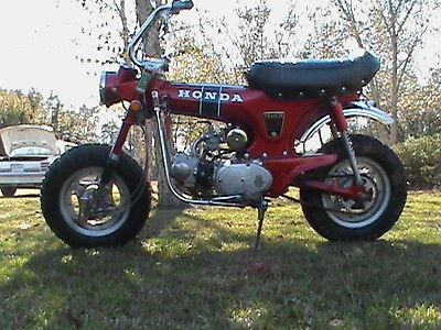 Honda : CT 1971 original honda ct 70 un restored ct 70 k 0 mini trail bike red has title