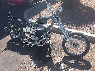 Honda : CB HONDA CB750 DENVER CHOPPER springer DNA front end, built in 1976