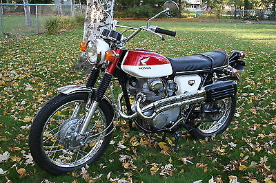 Honda : CL 1969 honda cl 350 scrambler 10 k beautiful original bike excellent condition