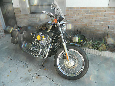 Harley-Davidson : Sportster 2000 harley black 883 sporstewith 14 600 miles all chromed out mint condition