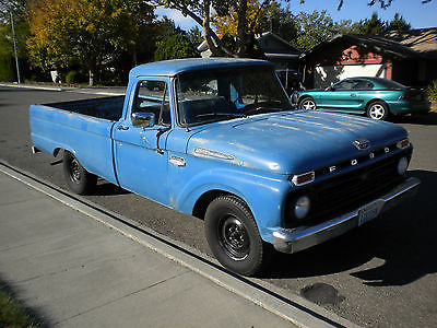 Ford : Other Pickups Base 1966 ford f 100 pickup truck nice solid truck original blue paint powerful v 8