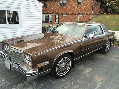 Cadillac : Eldorado Biarritz 1984 cadillac eldorado biarritz 2 door leather roof w manual l k